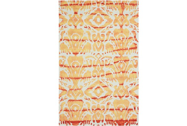 8'x11' Rug-Orange Tie Dye Ikat - 360