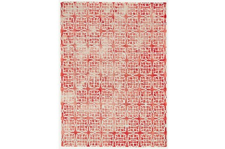 96X132 Rug-Red Tie Dye  Cubes - Main