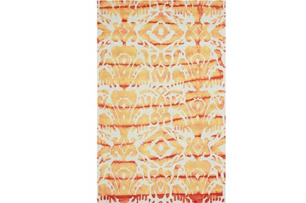 114X162 Rug-Orange Tie Dye Ikat - Main