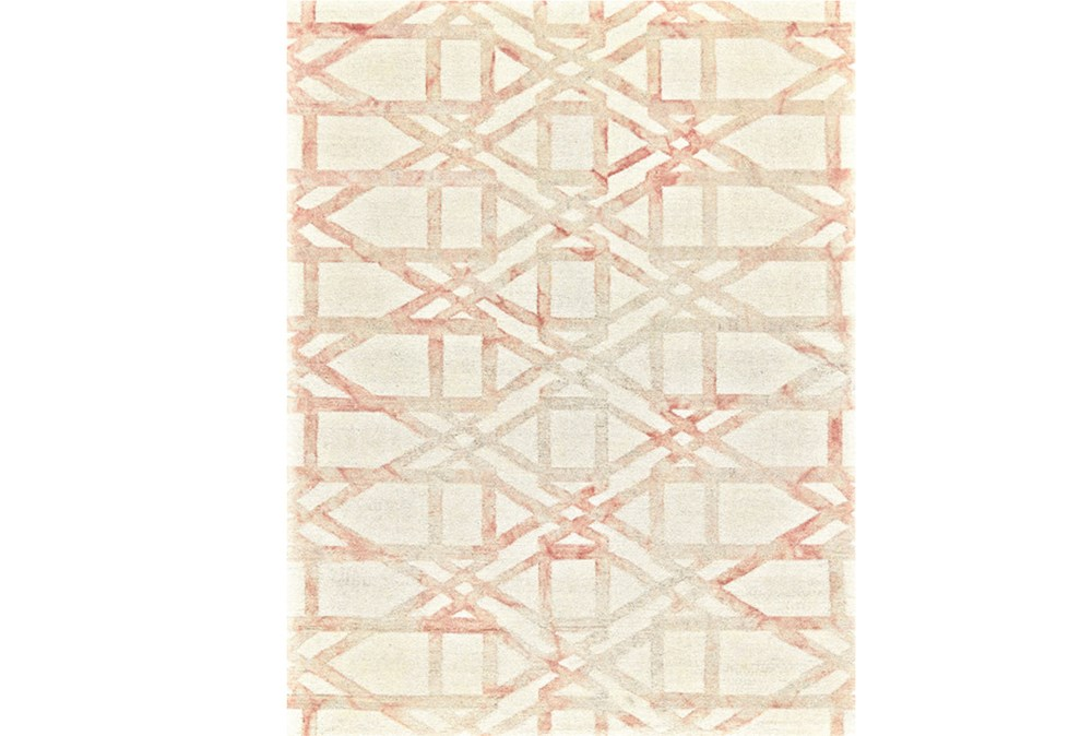 60X96 Rug-Blush Pink Tie Dye Trellis