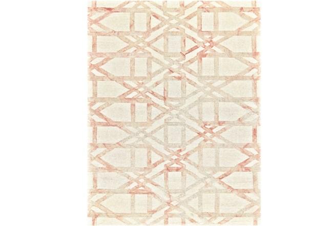 60X96 Rug-Blush Pink Tie Dye Trellis - 360