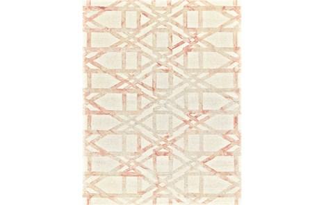 96X132 Rug-Blush Pink Tie Dye Trellis