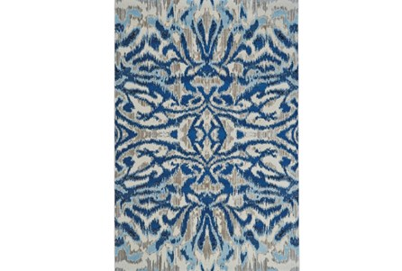 26X48 Rug-Royal Blue Kaleidoscope Damask
