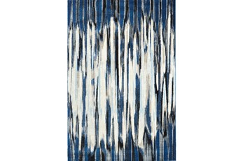 "2'2""x4' Rug-Royal Blue Watermark Strie"