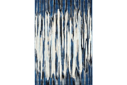 26X48 Rug-Royal Blue Watermark Strie