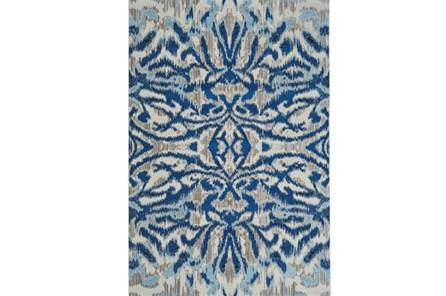 63X90 Rug-Royal Blue Kaleidoscope Damask