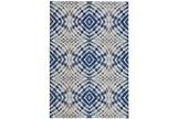 63X90 Rug-Royal Blue Kaleidoscope - Signature