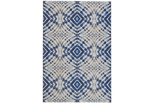 63X90 Rug-Royal Blue Kaleidoscope - 360