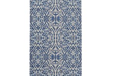 "7'8""x11' Rug-Royal Blue Distressed Damask"