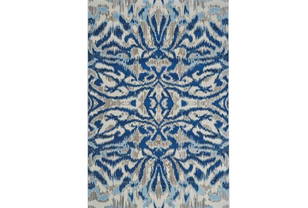 "7'8""x11' Rug-Royal Blue Kaleidoscope Damask"
