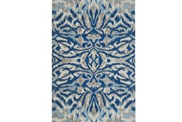 94X132 Rug-Royal Blue Kaleidoscope Damask