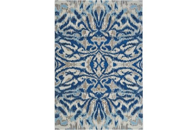 "7'8""x11' Rug-Royal Blue Kaleidoscope Damask - 360"
