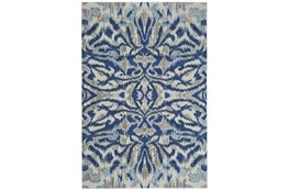 "7'8""x11' Rug-Royal Blue Kaleidoscope Damask"