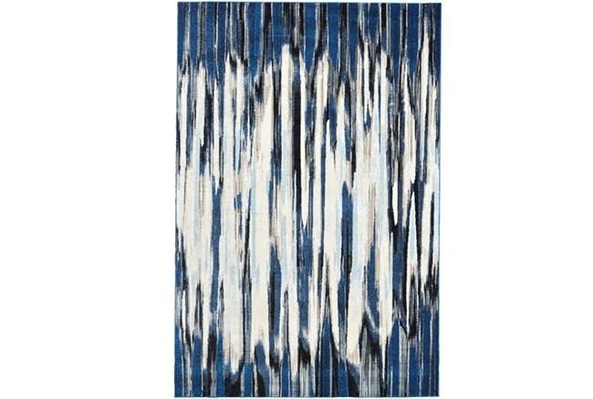 94X132 Rug-Royal Blue Watermark Strie - 360