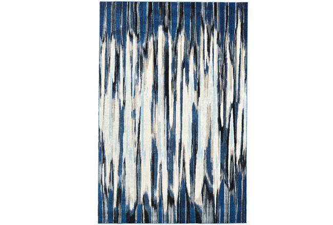 94X132 Rug-Royal Blue Watermark Strie - 360
