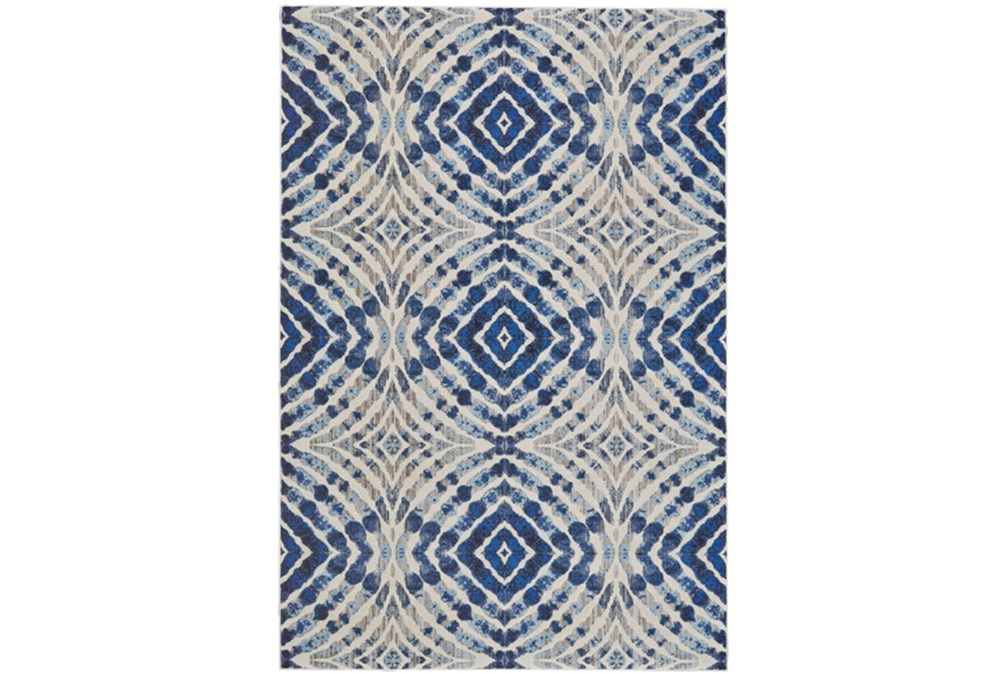 94X132 Rug-Royal Blue Kaleidoscope
