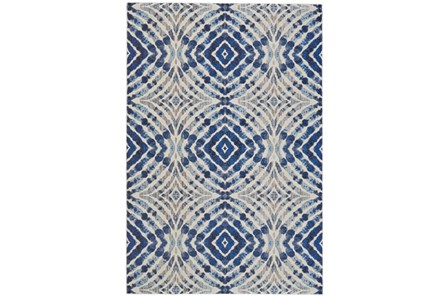 94X132 Rug-Royal Blue Kaleidoscope