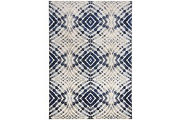 "7'8""x11' Rug-Royal Blue Kaleidoscope"