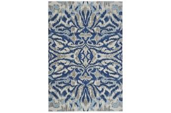 "10'2""x13'7"" Rug-Royal Blue Kaleidoscope Damask"