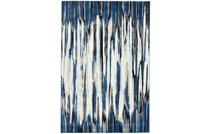 "10'2""x13'7"" Rug-Royal Blue Watermark Strie - 360"