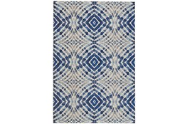 "10'2""x13'7"" Rug-Royal Blue Kaleidoscope"