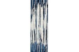 31X96 Rug-Royal Blue Watermark Strie