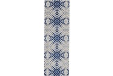 31X96 Rug-Royal Blue Kaleidoscope