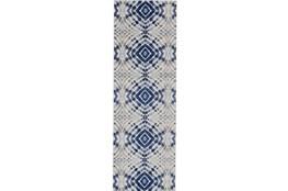 31X96 Rug-Royal Blue Kaleidoscope