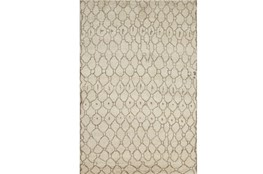 2'x3' Rug-Undyed Natural Wool Organic Geometric