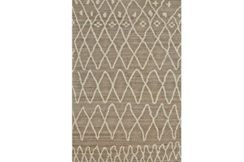 24X36 Rug-Undyed Natural Wool Organic Diamonds