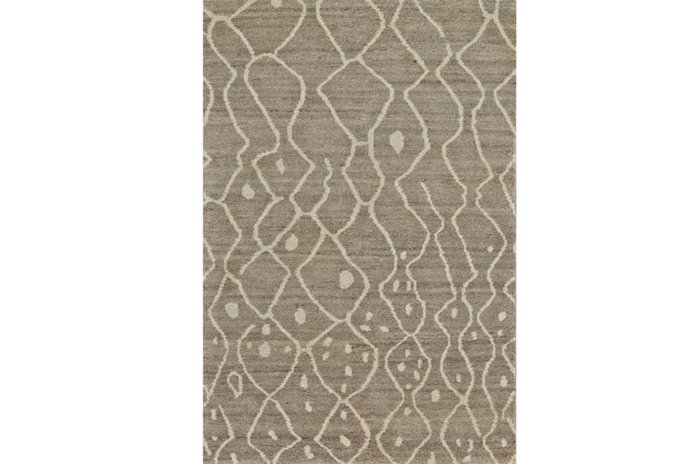24X36 Rug-Undyed Natural Wool Moroccan Print