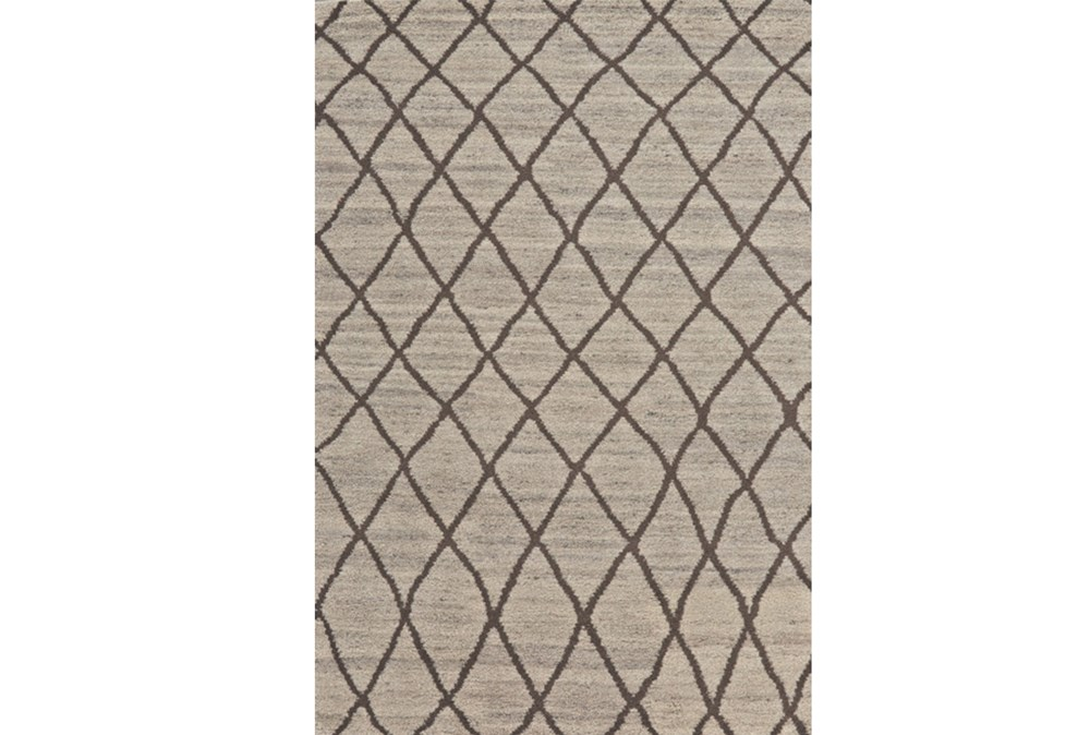 24X36 Rug-Undyed Natural Wool Cross Hatch