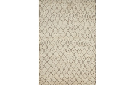 48X72 Rug-Undyed Natural Wool Organic Geometric