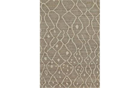 48X72 Rug-Undyed Natural Wool Moroccan Print - Main