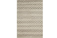 48X72 Rug-Undyed Natural Wool Diamond Stripes