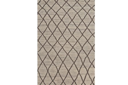 48X72 Rug-Undyed Natural Wool Cross Hatch