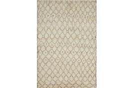 "5'5""x8'5"" Rug-Undyed Natural Wool Organic Geometric"