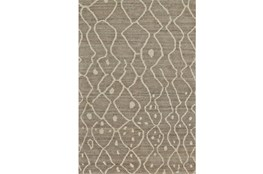 66X102 Rug-Undyed Natural Wool Moroccan Print