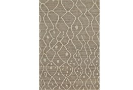 """5'5""""x8'5"""" Rug-Undyed Natural Wool Moroccan Print"""
