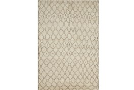 93X117 Rug-Undyed Natural Wool Organic Geometric