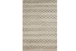 93X117 Rug-Undyed Natural Wool Diamond Stripes