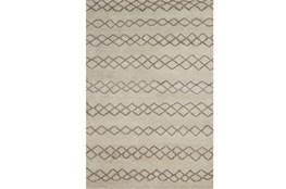102X138 Rug-Undyed Natural Wool Diamond Stripes