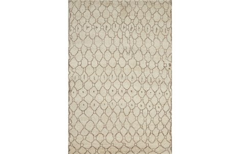 114X162 Rug-Undyed Natural Wool Organic Geometric