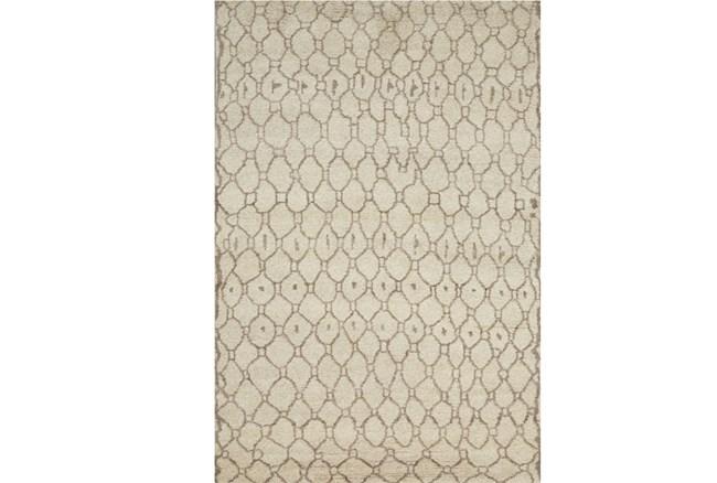 114X162 Rug-Undyed Natural Wool Organic Geometric - 360