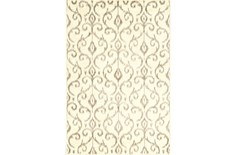 26X48 Rug-Cream And Grey Scroll