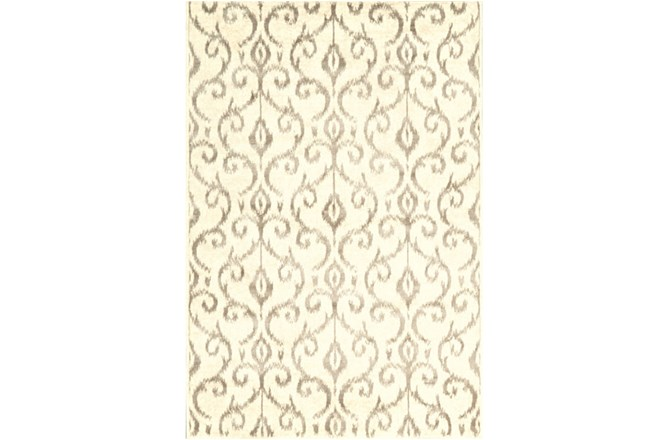 26X48 Rug-Cream And Grey Scroll - 360