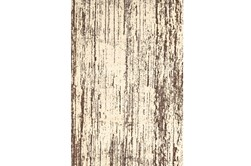 26X48 Rug-Cream And Brown Faux Bois