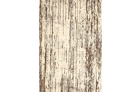 26X48 Rug-Cream And Brown Faux Bois - Main