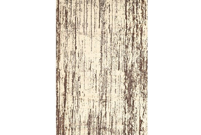 26X48 Rug-Cream And Brown Faux Bois - 360
