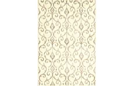 94X132 Rug-Cream And Grey Scroll - Main